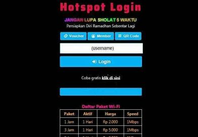 Free Download Template Login Hotspot